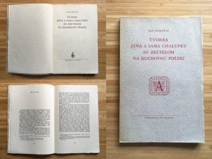 Ján Ďurovič - Tvorba Jána a Sama Chalupku so zreteľom na duchovnú poéziu (1947)