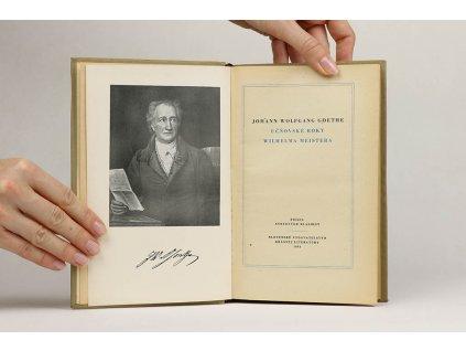 J. W. Goethe - Učňovské roky Wilhelma Meistera (1954)