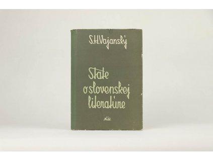 Svetozár Hurban Vajanský - State o slovenskej literatúre 1 (1956)
