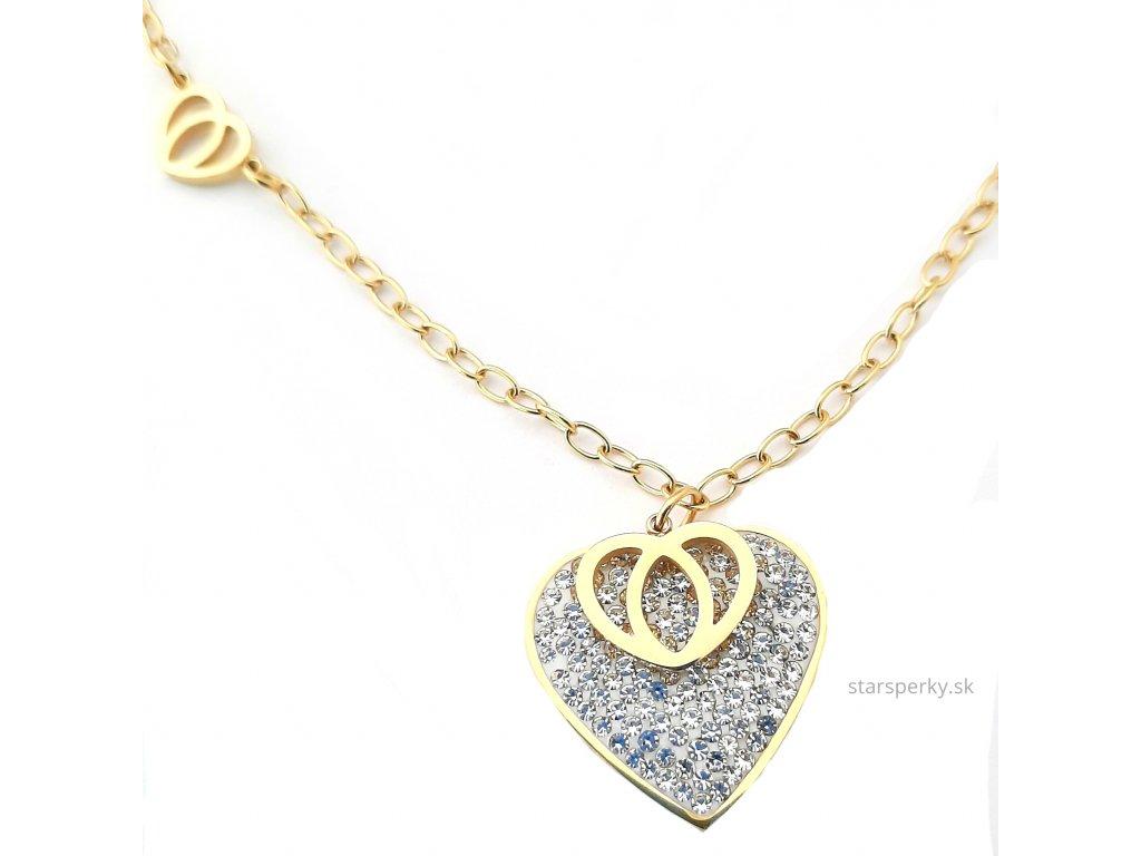 70efd4192 Chirurgická oceľ náhrdelník pozlátený 14kt.zlatom - Staršperky