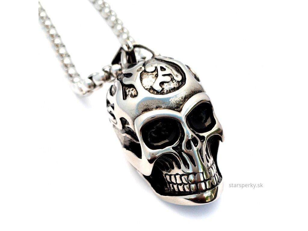 0e8ce038d Chirurgická ocel náhrdelník lebka - Staršperky