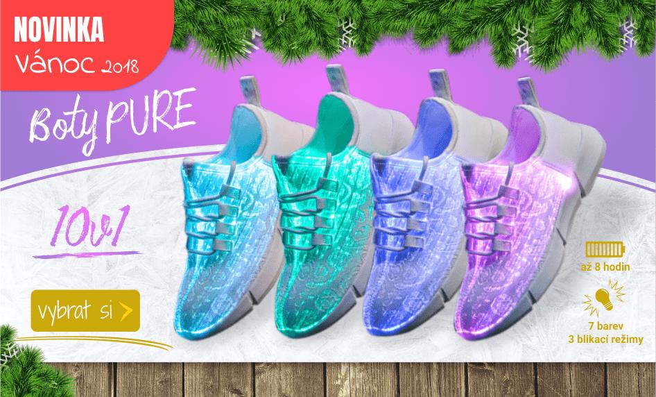 Nové svítící LED boty - taneční tenisky pro každého