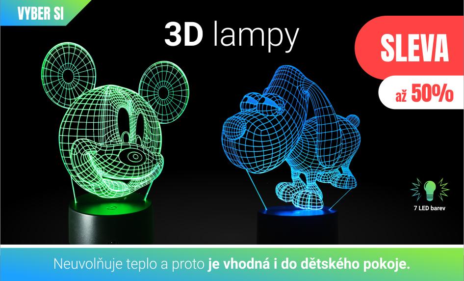 3D lampicky do detskeho pokoje - osvětlení pro domácnost