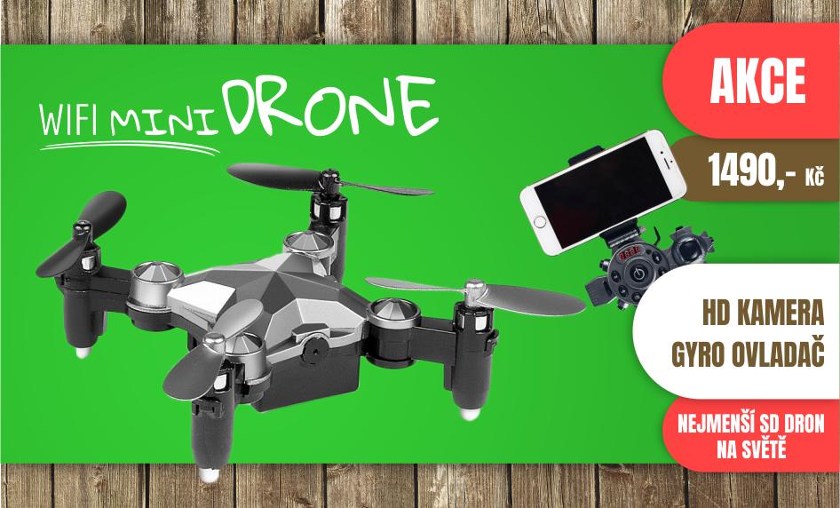 Wifi mini drone s gyro ovladačem a HD kamerou