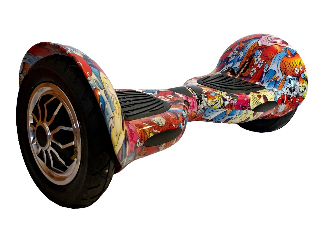 hoverboard offroad pink graffiti s dalkovym ovladacem bt reproduktor 3