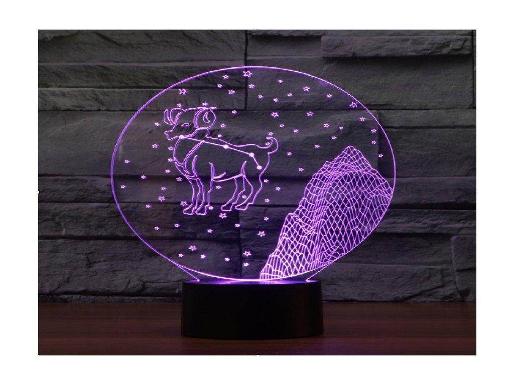 1 3D lampicka znameni beran