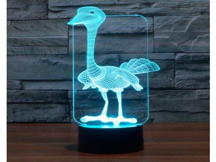 3D lampicka lampa pstros