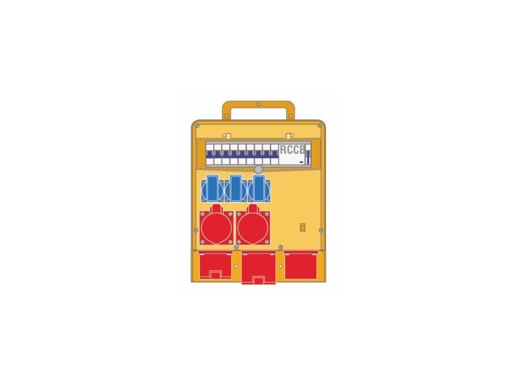 Plastový rozvaděč 3x230V/16A