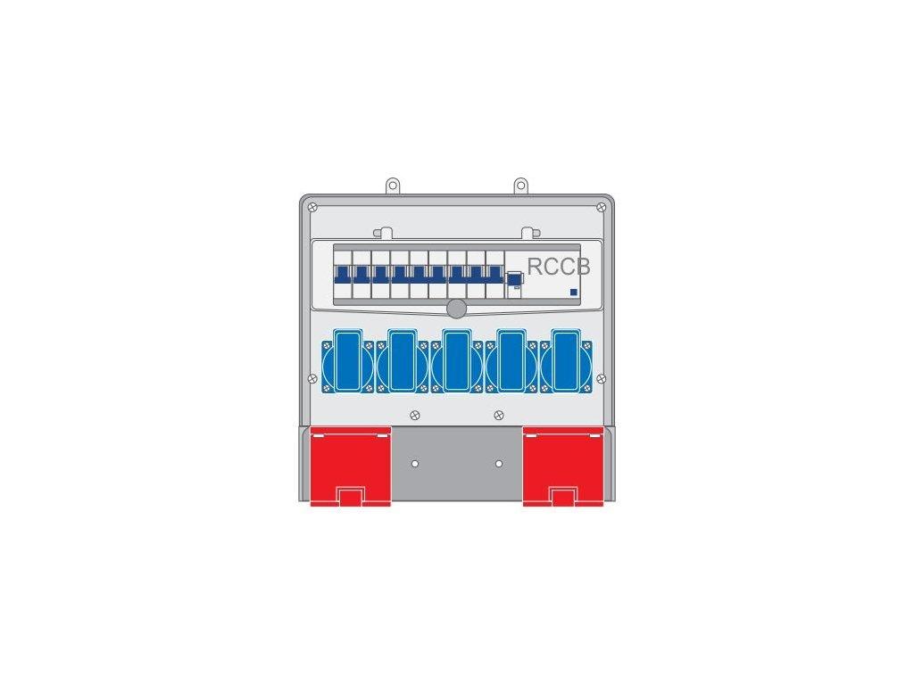 Plastový rozvaděč 5x230V/16A