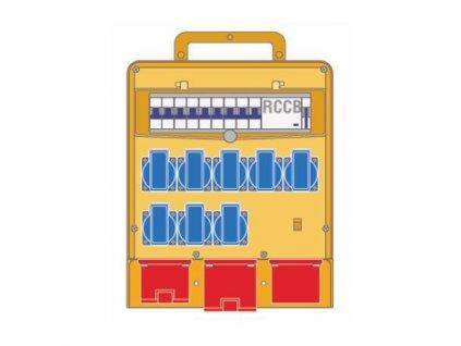 Plastový rozvaděč 8x230V/16A