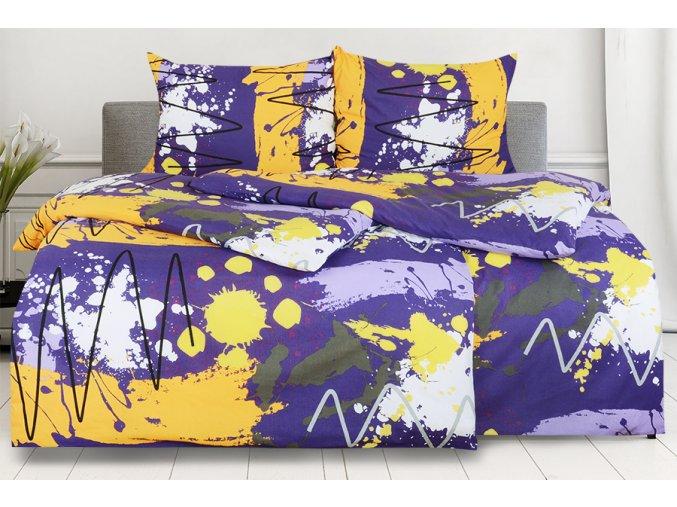 Bavlněné povlečení RENFORCÉ 4dílné MIDELA fialové