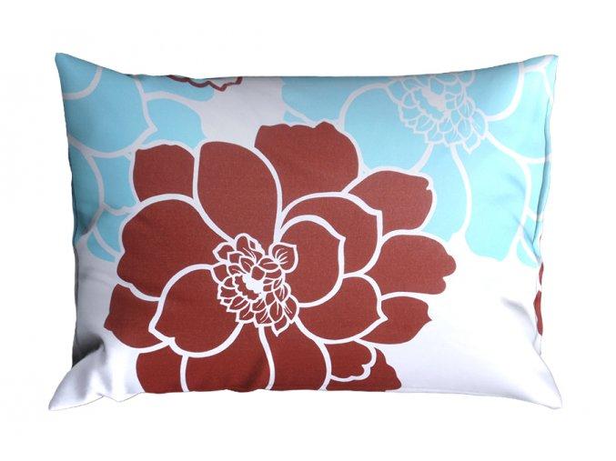 Bavlněný povlak na polštář RENFORCÉ 70x90 cm FLOCERA tyrkysový