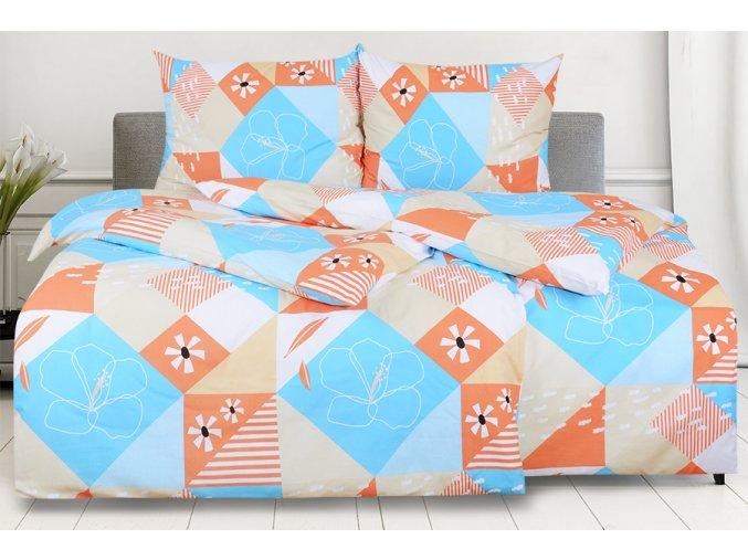 Bavlněné povlečení RENFORCÉ prodloužené AURORA tyrkysové