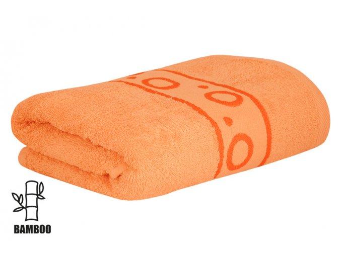 Bambusový ručník KORAL meruňkový