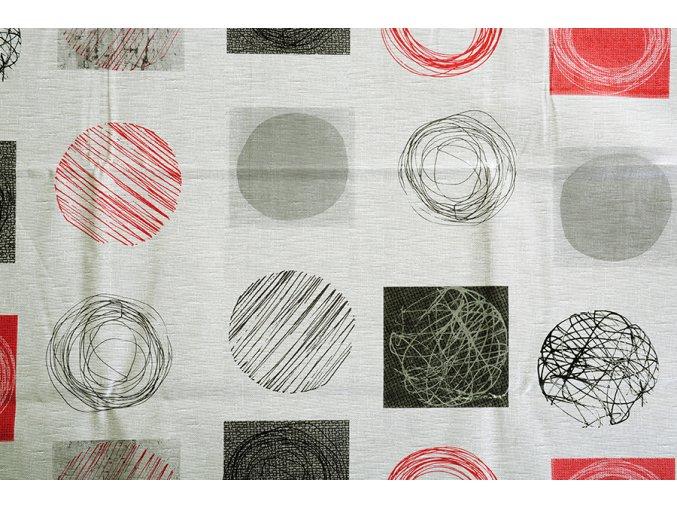 PVC ubrus KVIRELA šedý 120x140 cm