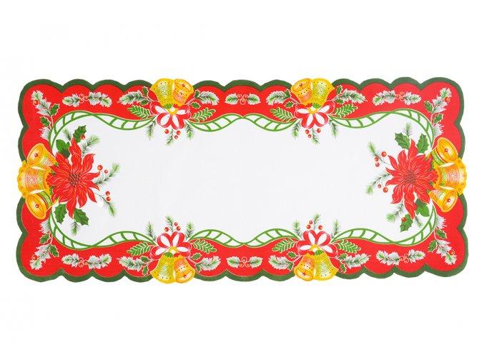 Vánoční ubrus ZVONKY 38x85 cm