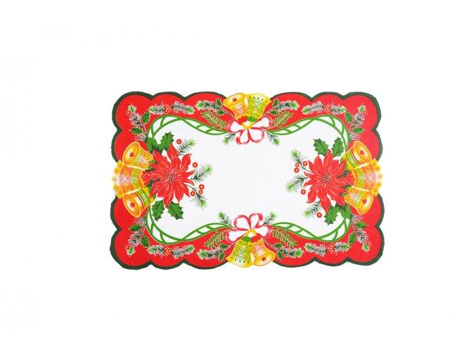 Vánoční ubrus ZVONKY 28x43 cm