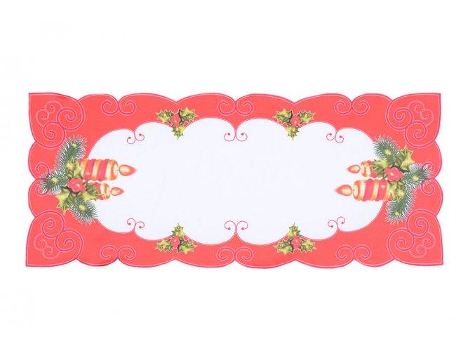 Vánoční ubrus SVÍCEN 2 38x85 cm