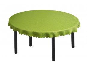 Žakárový oválný ubrus KUBE zelený 140x180 cm