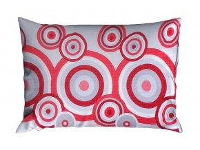 Krepový povlak na polštář RENFORCÉ 70x90 cm FIORA červený