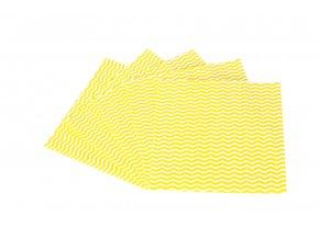 Kuchyňská utěrka KARA žlutá 5 ks