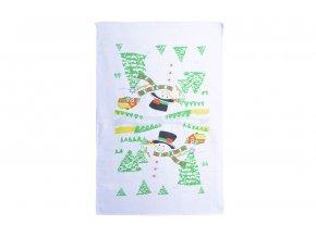Vánoční ručník SNĚHULÁK