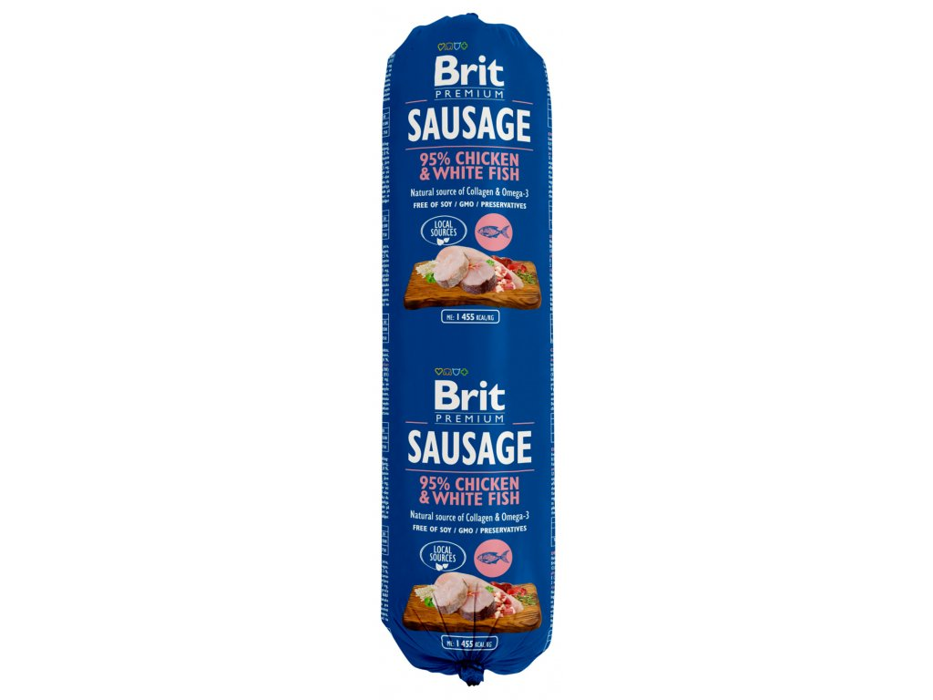 brit dog sausage white fish