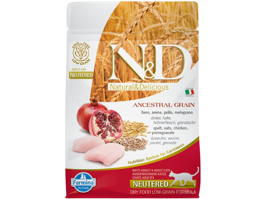 nd lg cat adult chicken pomegranate