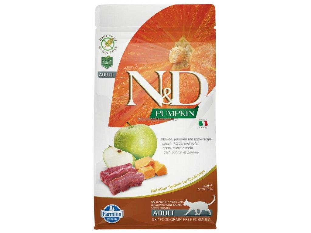 nd gf cat adult venison apple