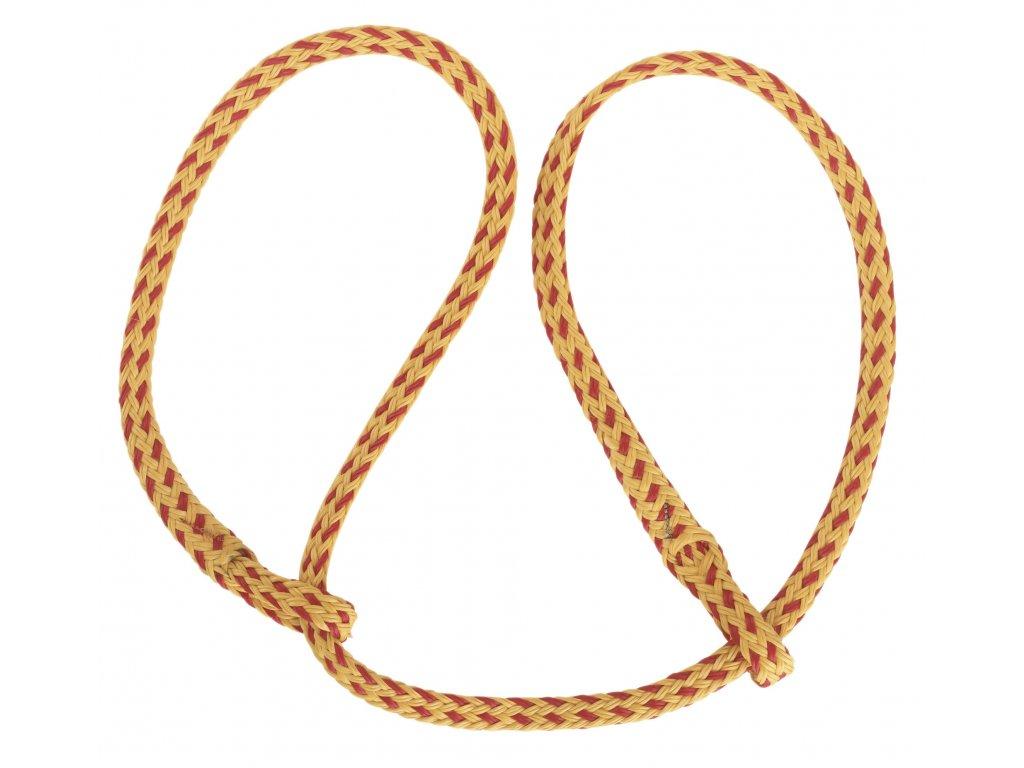 Porodní provaz, žluto/červený, dvě oka