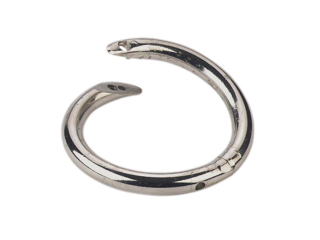 Kruh nosní, poniklovaný, s šroubovací pojistkou, otočný, _ 57 mm