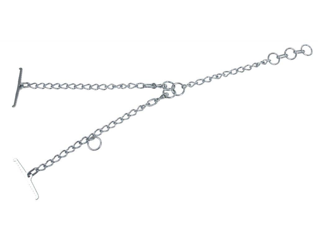 Tyrolský řetěz pro skot, jednoduchý, článek 6mm, uvazovací část 60 cm, obvod krku 110cm