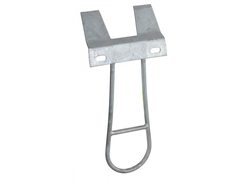 Držák - plech pro kyblík, s bezpečnostním úchytem