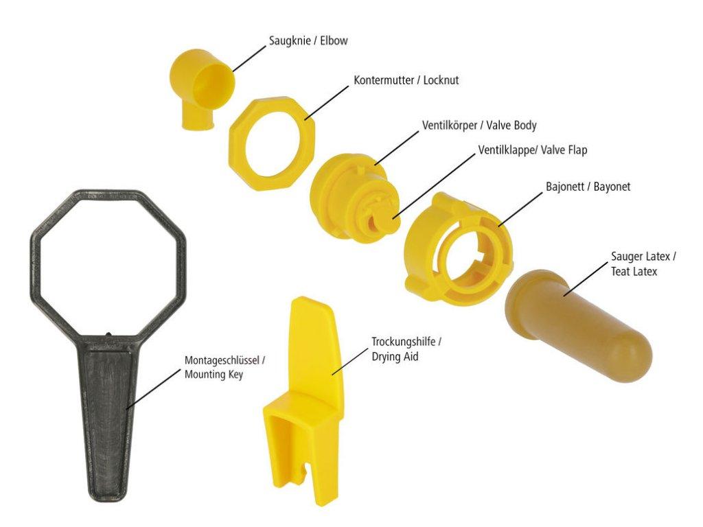 Montážní klíč pro hygienický ventil, 5ks/bal
