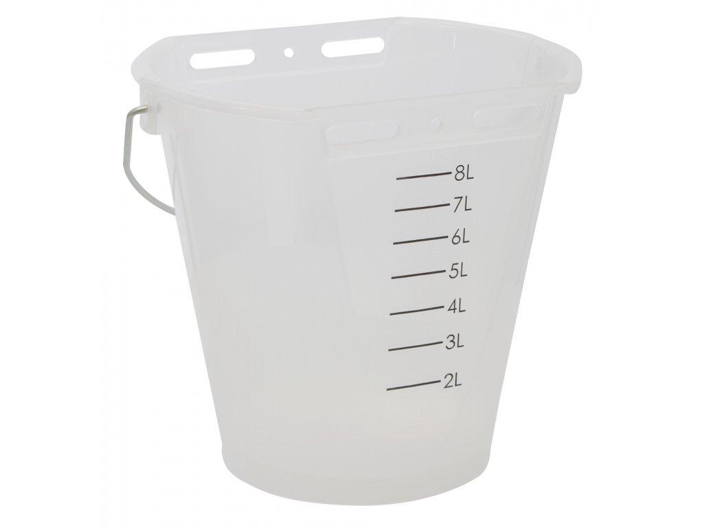 Napájecí kbelík pro telata, plast, průhledný bílý, 8l