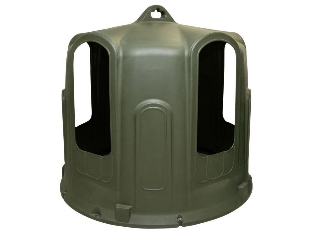 Krmný zvon na kulaté balíky, 5 krmných otvorů, pro dobytek a koně