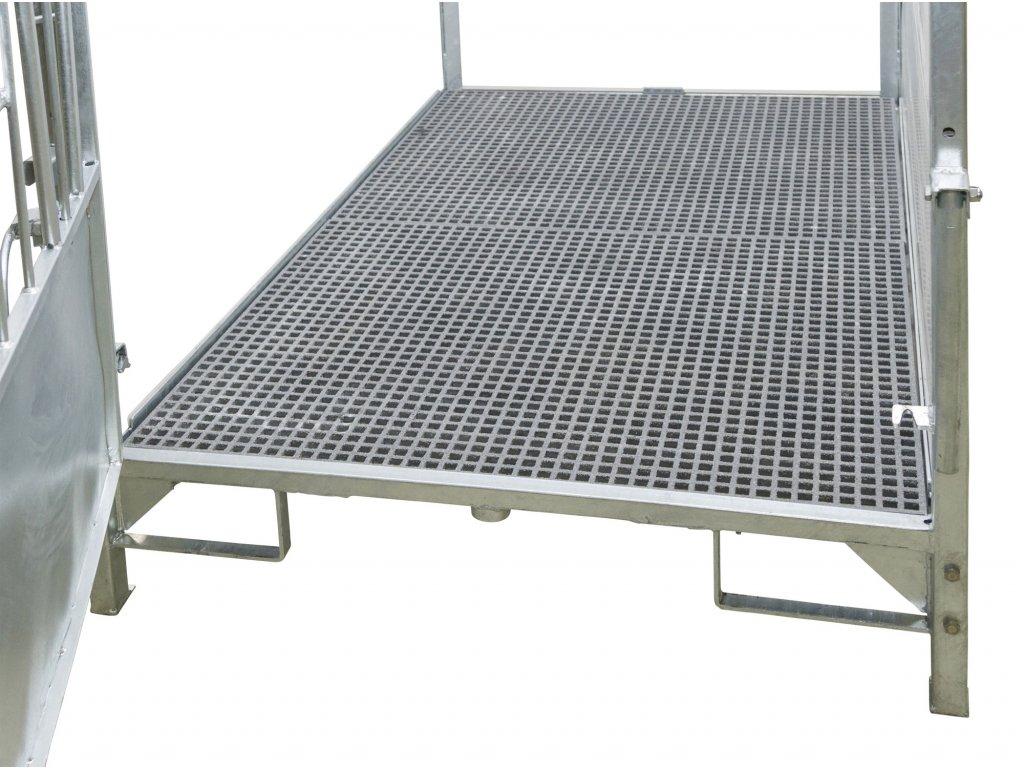 Podlahový rošt pro velký box pro telata, dvoudílný