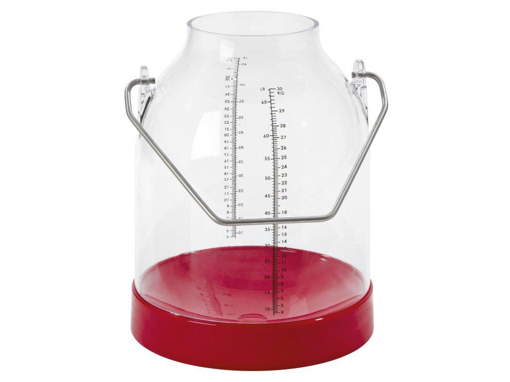 Konev na dojení červená, držadla 143 mm (Standart)