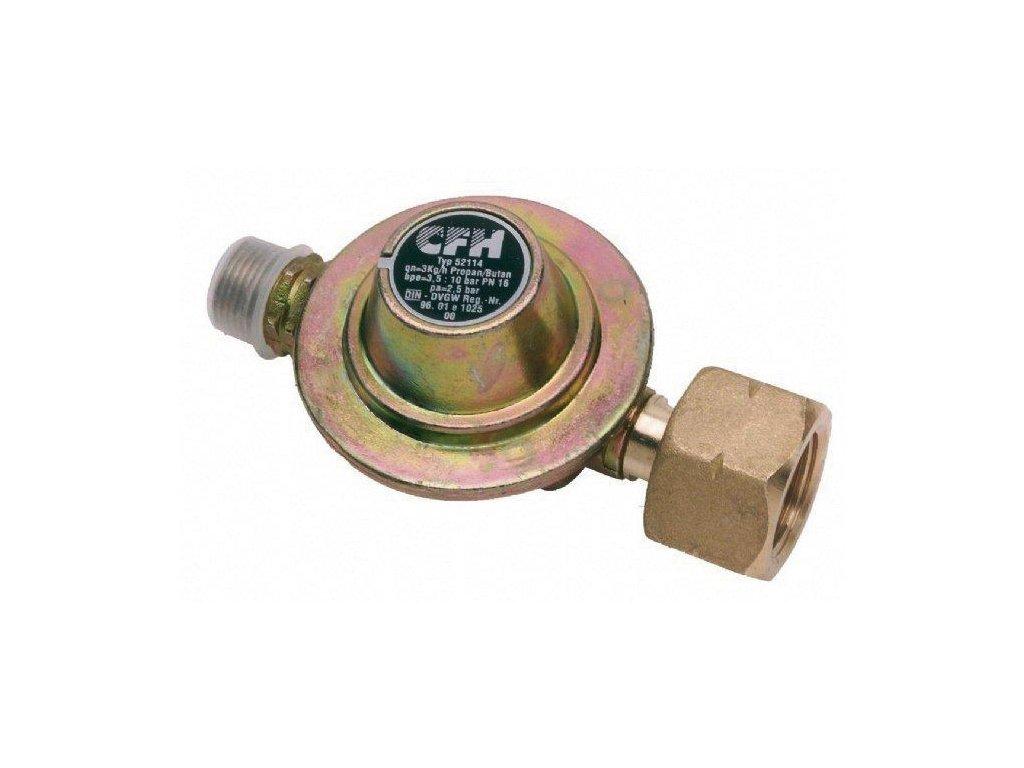 Redukce tlaku pro přípojku na plynovou láhev