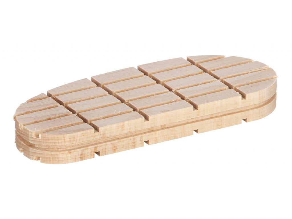 Technovit ProfitVet, dřevěný špalík, plochý, nízký 1ks, 130mm