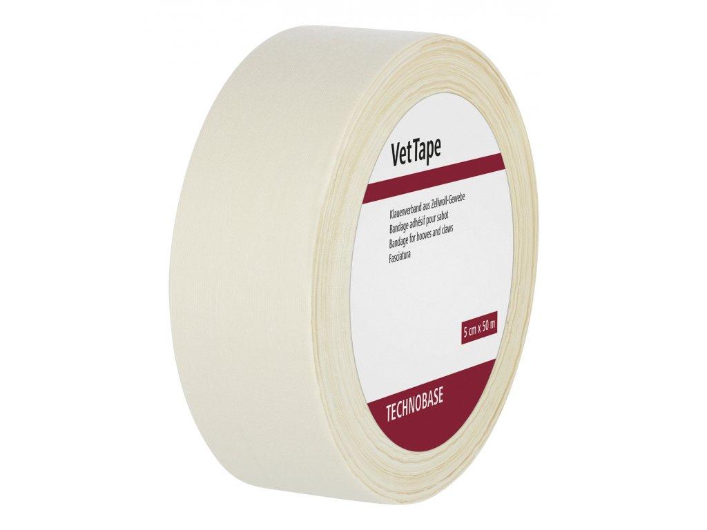 Páska textilní na kopyta a paznehty, 50mx5cm, bílá