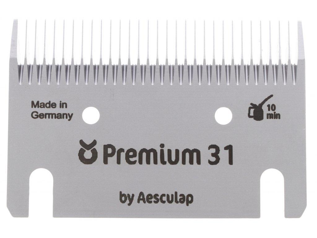 Sada stříhacích nožů Premium 31/15 zubů pro stříhání skotu, koní