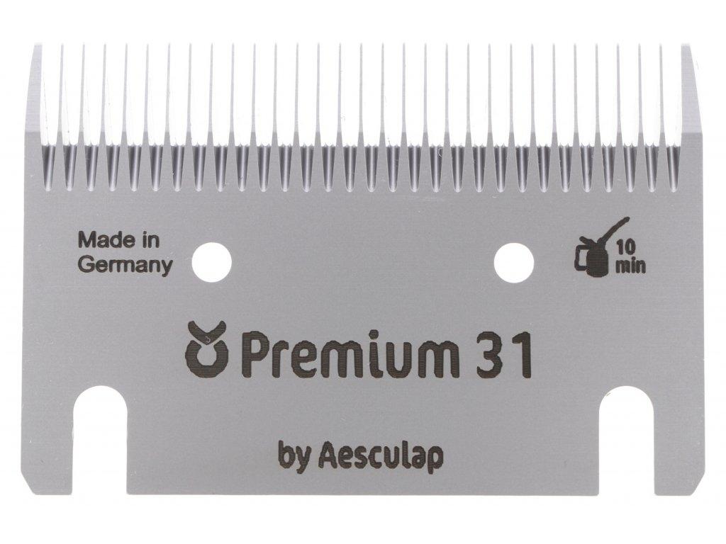 Sada stříhacích nožů Premium 31/23 zubů pro stříhání skotu, koní