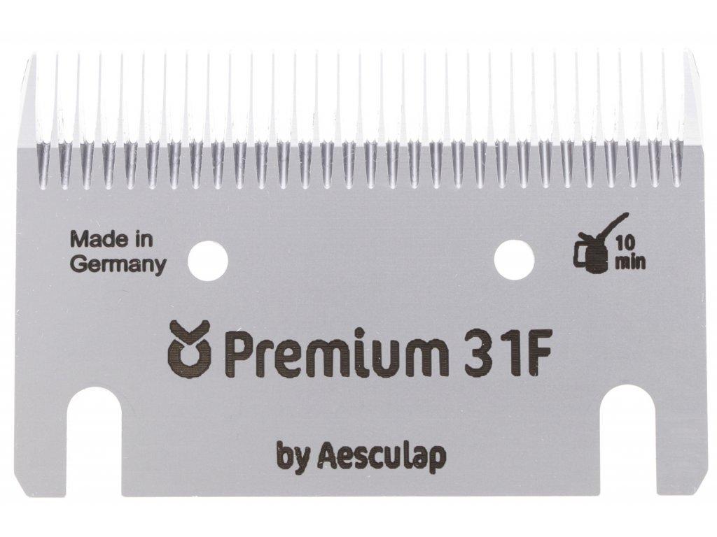 Sada stříhacích nožů Premium 31/15 zubů pro stříhání koní