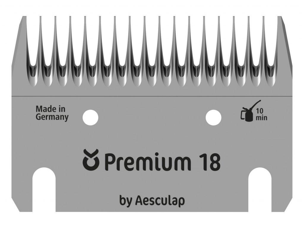 Sada stříhacích nožů Premium 18/17 zubů pro stříhání skotu