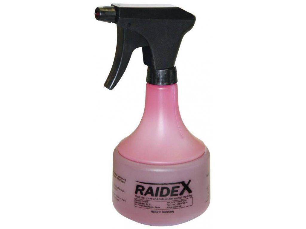 RAIDEX FastMark 500ml, červený, vč.dávkovače