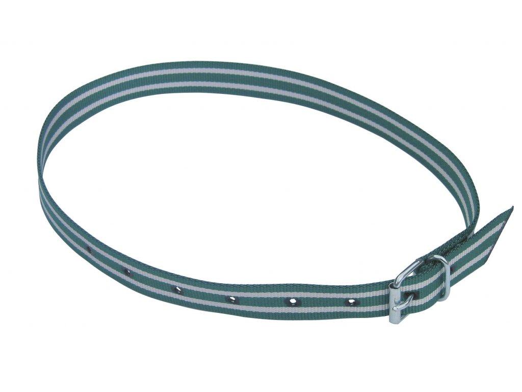 Obojek na krk tkaný pro číselné označení, pásková spona, zelená/bílá, 135cm