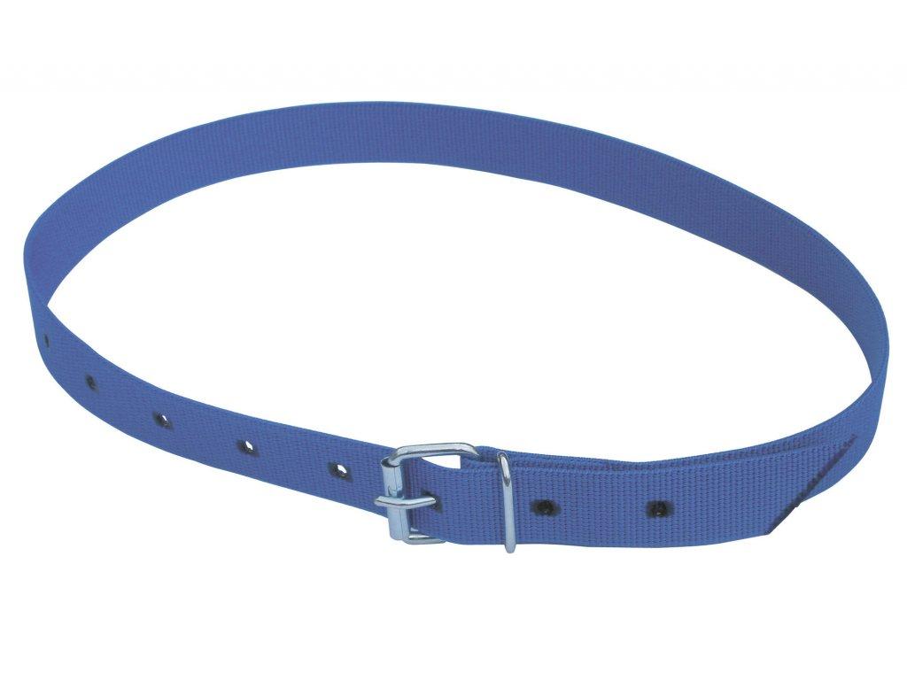 Obojek na krk tkaný pro číselné označení, pásková spona, modrý, 120cm