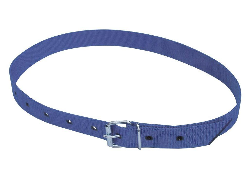 Obojek na krk tkaný pro číselné označení, pásková spona, modrý, 135cm