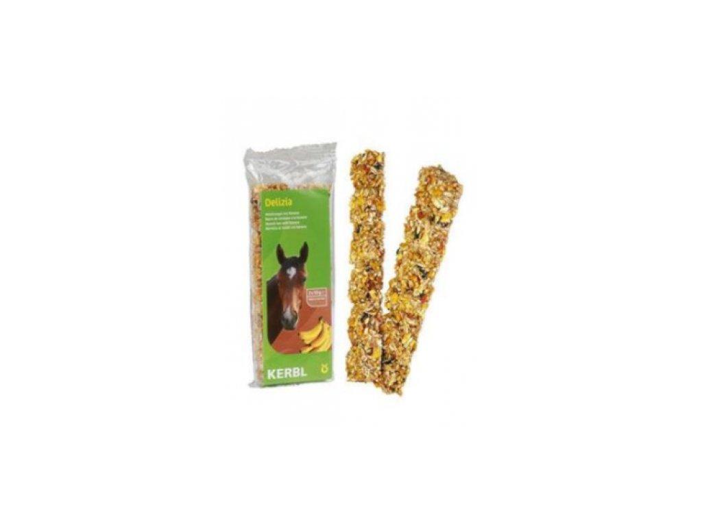 Müsli tyčinka pro koně DELIZIA banán 2x50G
